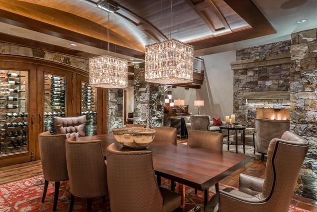 Dining Room with Wine Cellar - Mountain Star, Avon, Colorado