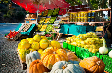A Roadside Vegetable Stand Outside Efes, Turkey