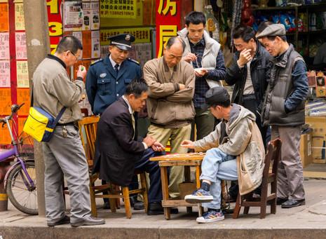 A Crowd Always Gathers - Yongshou, China