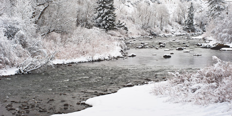 Winter Along the Eagle River - Edwards, Colorado