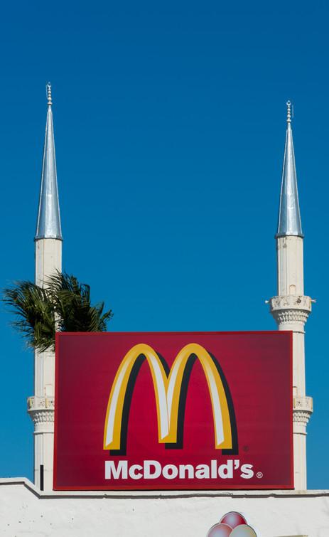Mosque and McDonald's - Turgutreis, Turkey