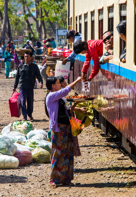 On The Mandalay to Hsipaw Train