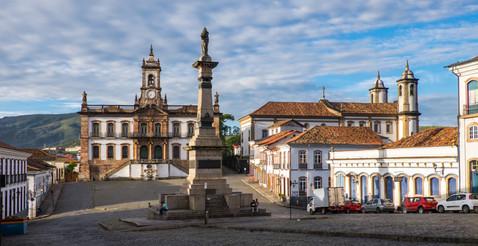 The Main Plaza of Ouro Preto at Dawn - Ouro Preto, Minas Gerais, Brazil