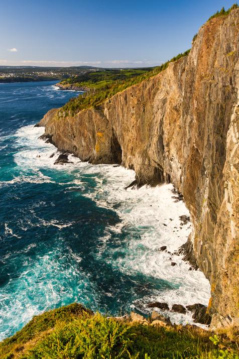 Cliffs After Sunrise Along the East Coast Trail - Torbay, Newfoundland