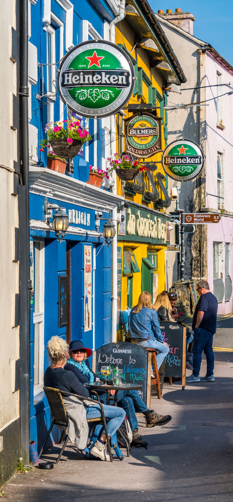 Street Life on a Beautiful Spring Day - Dingle