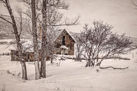 Abandoned Cabin in Winter - Western Colorado