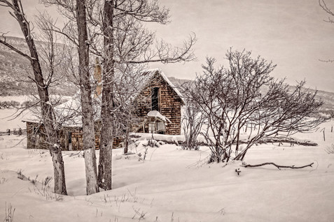Abandoned Cabin in Winter - Western Colorado