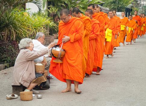The Morning Alms Rounds - Luang Prabang, Laos