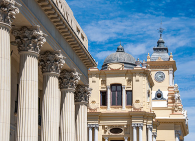 19th Century Buildings in Malaga, Spain, Andalusia