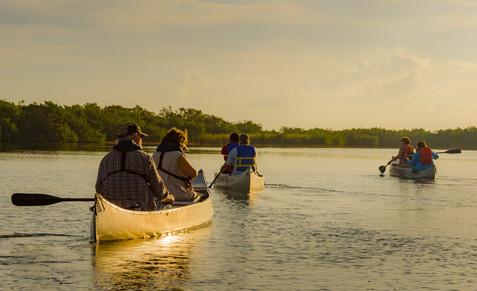 Canoeing at Sunrise - Everglades National Park, Florida
