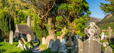 Ancient Cemetary in Glendalough - County Wicklow
