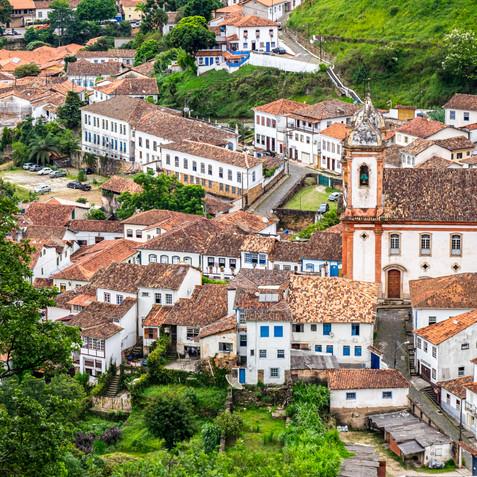 Detail of the Colonial City of Ouro Preto - Minas Gerais, Brazil