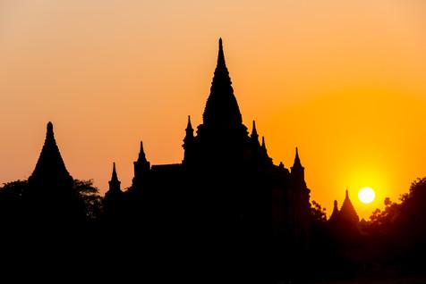 Bagan Temple at Sunset