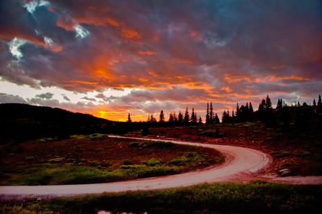 Shrine Pass Road at Sunset - Vail, Colorado