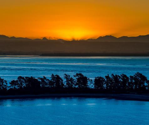 Sunset Behind Abel Tasman National Park
