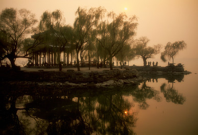 Summer Palace Silhouette - Beijing, China