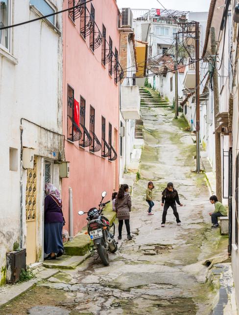At Play in the Streets of Kusadasi, Turkey