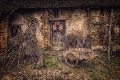 Village Scene - Yulong Valley - Guangxi, China