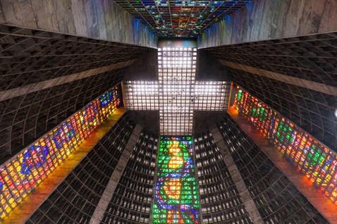 Interior of the Metropolitan Cathedral of San Sebastian - Rio de Janeiro, Brazil