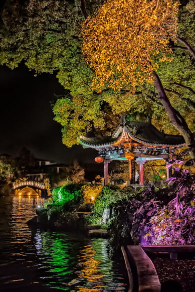 West Lake Temple Night - Guilin, China