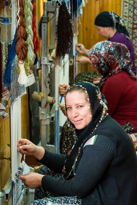 Turkish Carpet Weaver - Goreme, Cappadocia, Turkey