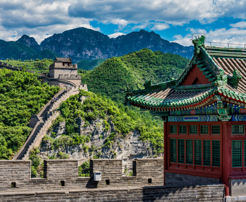 A Beautiful Day on China's Great Wall