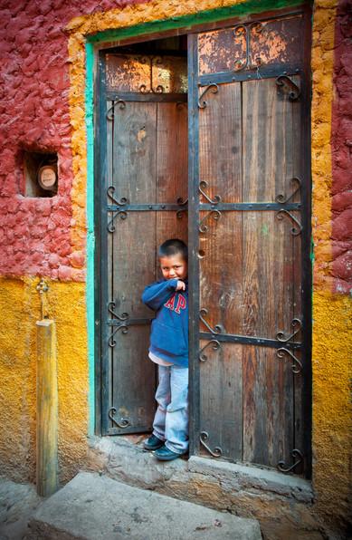 Young Boy In His Doorway - San Miguel de Allende, Mexico