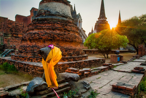 Sunset at Ayutthaya