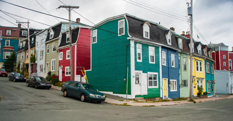 Colorful House Along the Streets of St. John's - Newfoundland