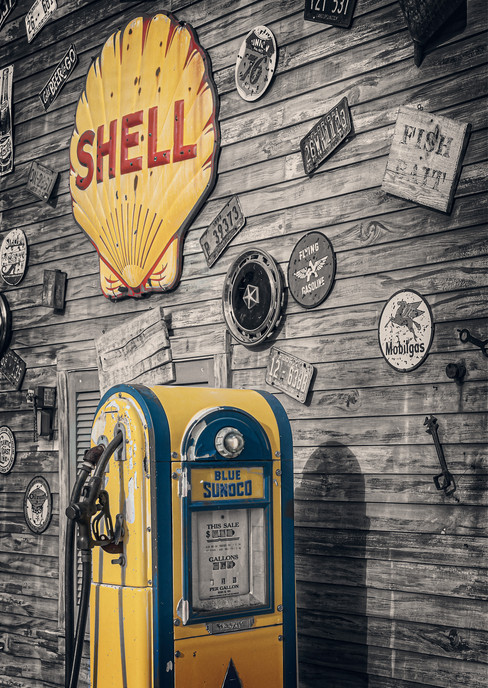 Sunoco Pump and Shell Sign - The Villages, Florida