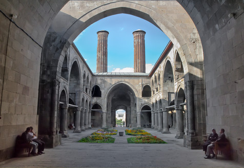 An Unusual Twin Pillared Medressa - Erzurum, Turkey