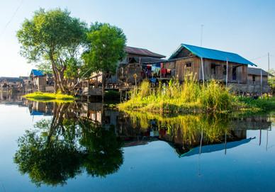 Floating Village Upon Inle Lake, Myanamar