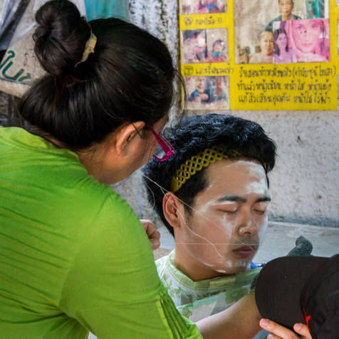 Getting a Shave - Bangkok