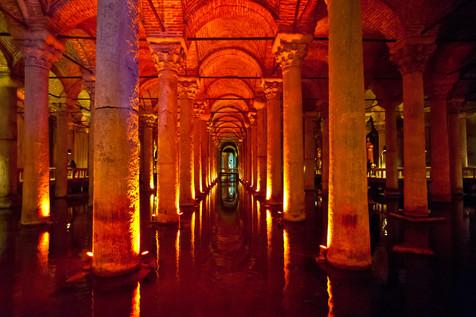 The Ancient Byzantine Cistern below Sultanahmet - Istanbul, Turkey