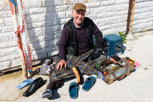 Shoeshine Man - Bodrum, Turkey