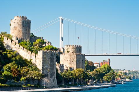 Rumelihisari Fortress and the Fatih Bridge over the Bosphorus - Istanbul, Turkey
