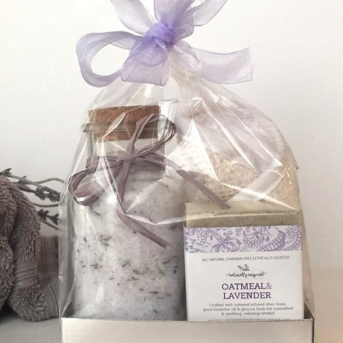 GIFT SET | LAVENDER SOAP + BATH SALTS