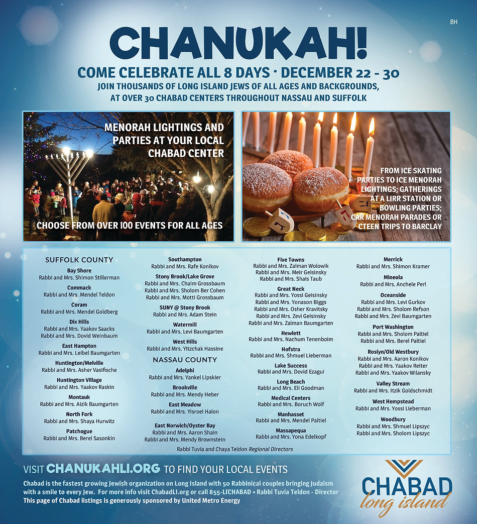 Chanukah LI Jewish world with shluchim l