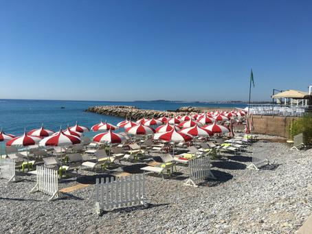 En dag på stranden i Cagnes-sur-Mer!