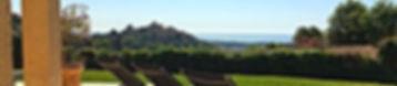 Utsikten över Haut-de-Cagnes och medelhavet