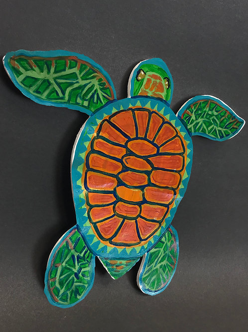 Art Kit Bento - Wood Sea Turtle