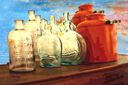 """Bottles and Red Pails"" by Jim Kalupa"