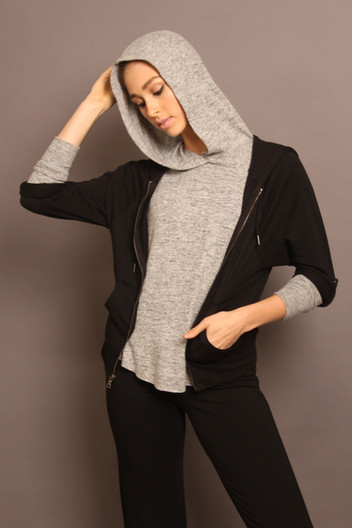 CASHMERESQUE RAGLAN HOODIE WITH OUR PIMA