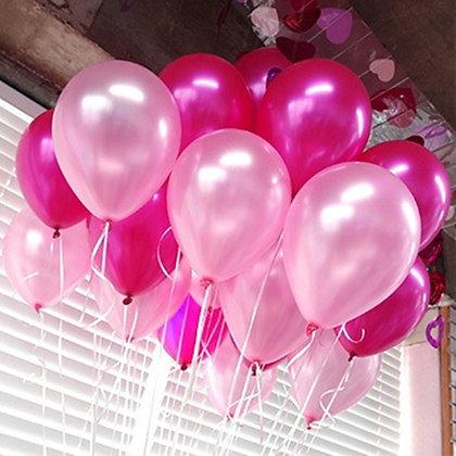 Шар металлик Фуксия и розовый