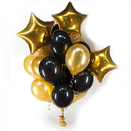 Черно золотой со звездами