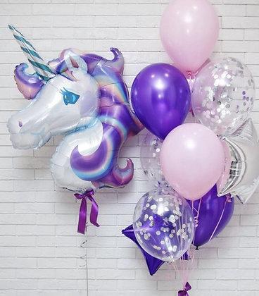 Единорог фиолетовый с фонтаном