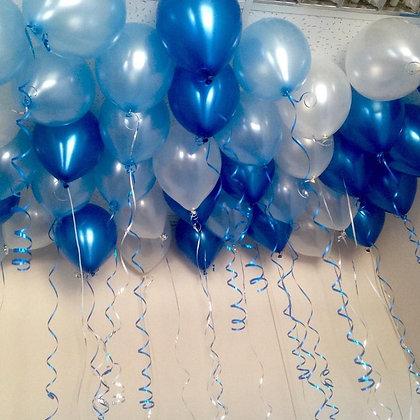 Шары металлик голубой, синий,жемчуг