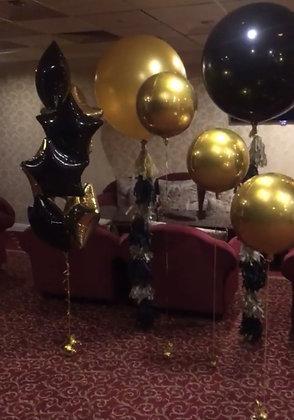 Оформление Новый год Черно-золотое