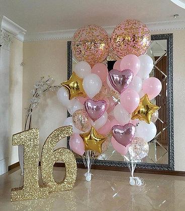 Набор - фонтан розовое золото.большой