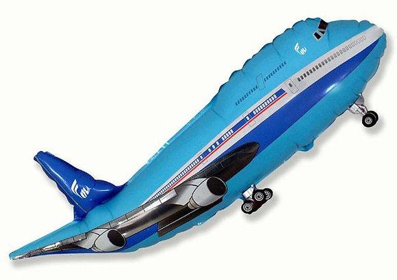 Самолет синий/голубой